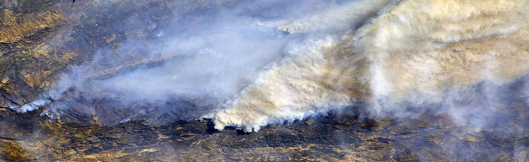 Southern California SoCal fires from space image credit NASA