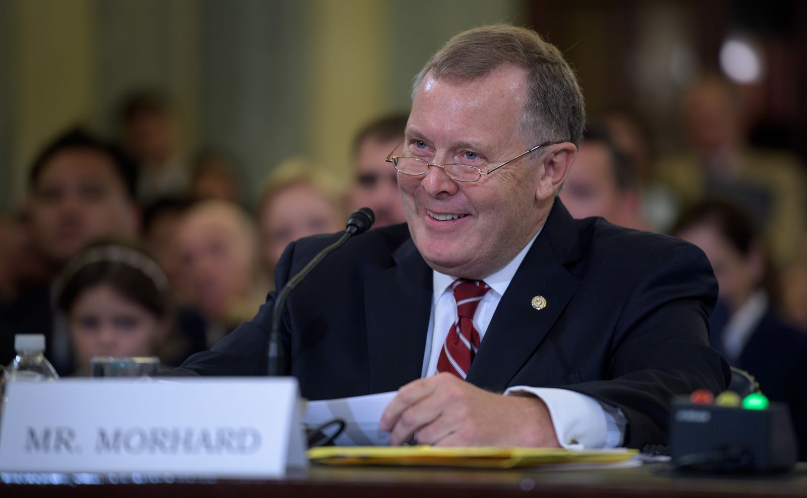 James Morhard, the current deputy Senate sergeant at arms, speaks before the Senate Committee on Commerce, Science, and Transportation during his confirmation hearing to be NASA's deputy administrator. Photo Credit: Bill Ingalls / NASA