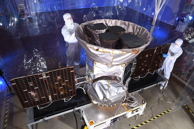 NASA's TESS spacecraft has passed the orbital checkout phase of its mission and is poised to begin scientific operations. Photo Credit: Northrop Grumman