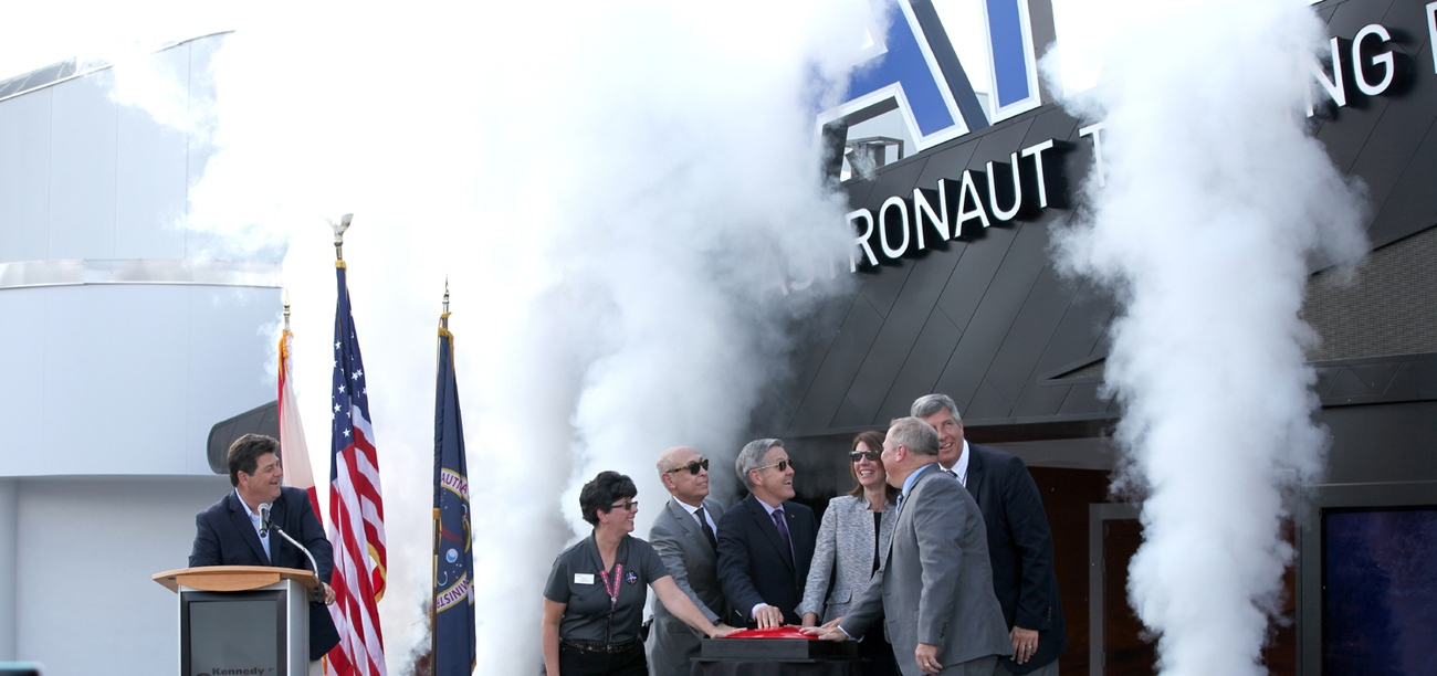 The opening of the Lockheed Martin-sponsored Astronaut Training Experience at the Kennedy Space Center Visitor Complex. Photo Credit: Michael Howard / SpaceFlight Insider