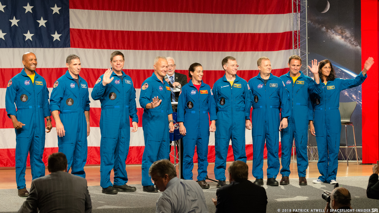 NASA announced the astronauts who had been selected to fly on the first CCP missions on Friday, Aug. 3 at Johnson Space Center in Houston, Texas. Photo Credit: Patrick Atwell / SpaceFlight Insider