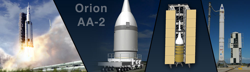 Graphic for NASA's Orion AA-2 test mission. Image Credit: NASA
