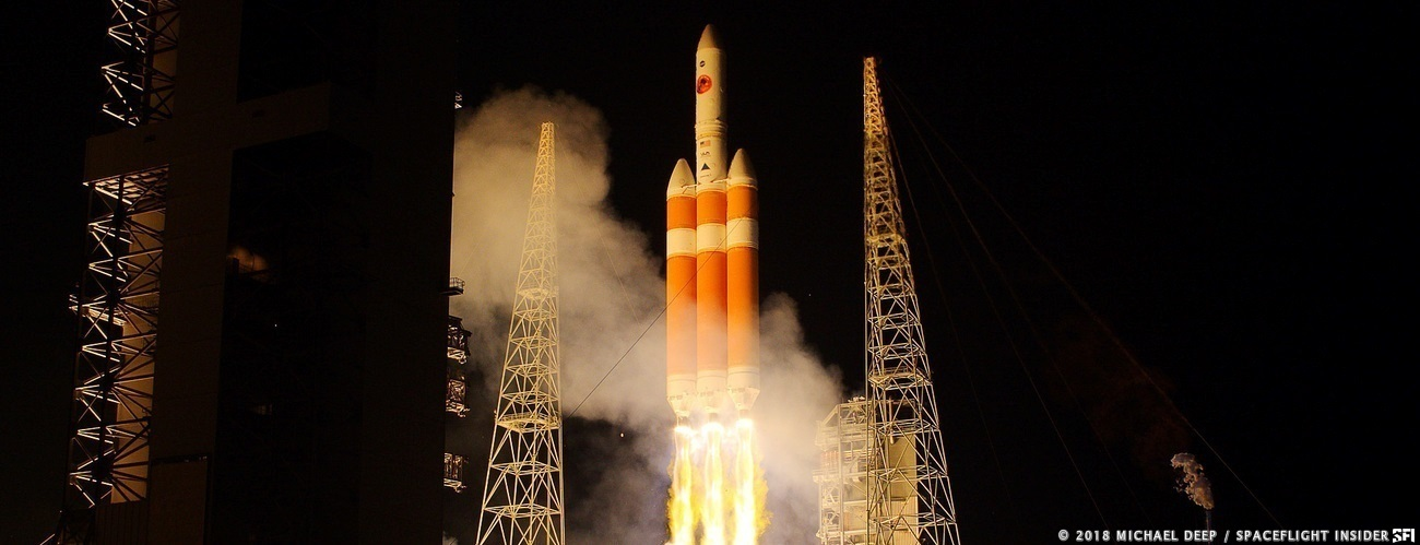 The Parker Solar Probe mission was launched atop a United Launch Alliance Delta IV Heavy rocket on Sunday Aug. 12. Photo Credit: Mike Deep / SpaceFlight Insider