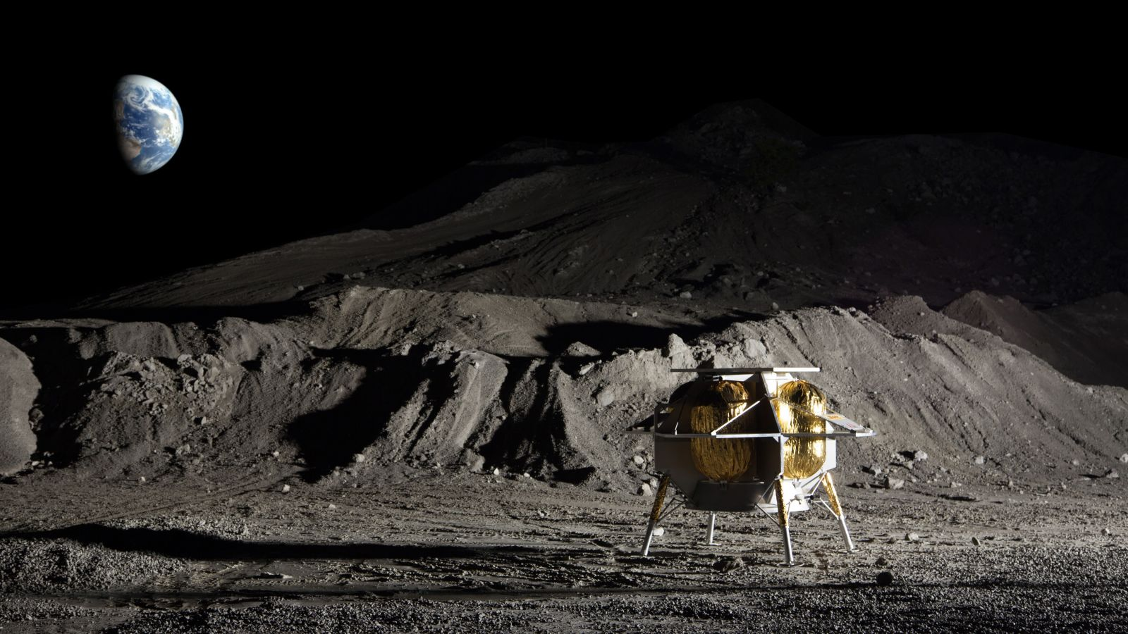 A Peregrine lunar lander flight mock-up. Image Credit: Astrobotic Technology
