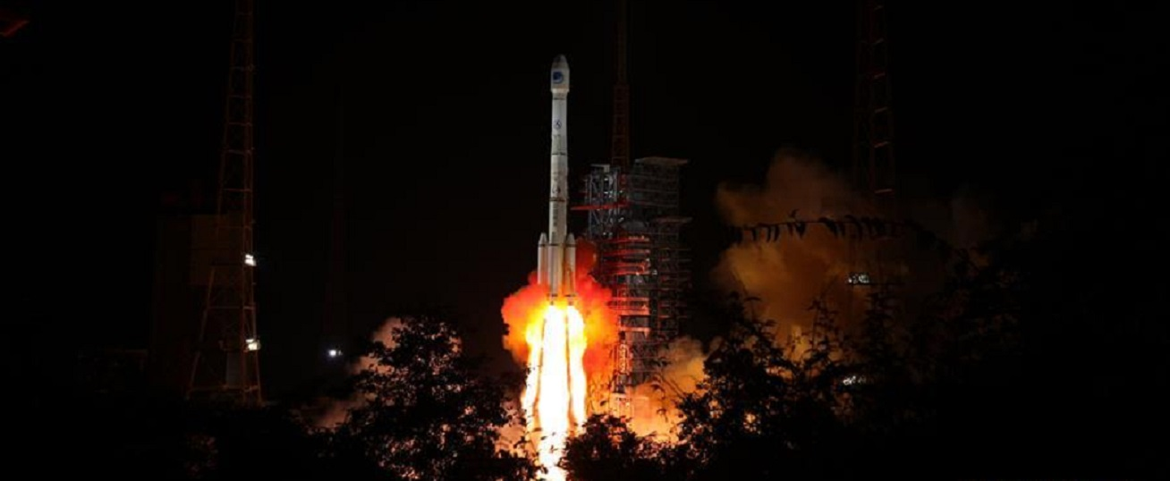 A Long March 3B launches the BeiDou-3 M13 and M14 satellites on Sept. 19, 2018. Photo Credit: Xinhua.