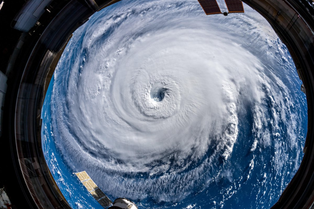 Aboard the International Space Station, European Space Agency astronaut Alexander Gerst, a member of the six-person Expedition 56 crew, captured this view of Hurricane Florence as it continued to track toward the East Coast of the United States. Photo Credit: Alexander Gerst / ESA
