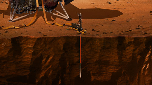 InSight DLR's HP3 experiment image credit NASA