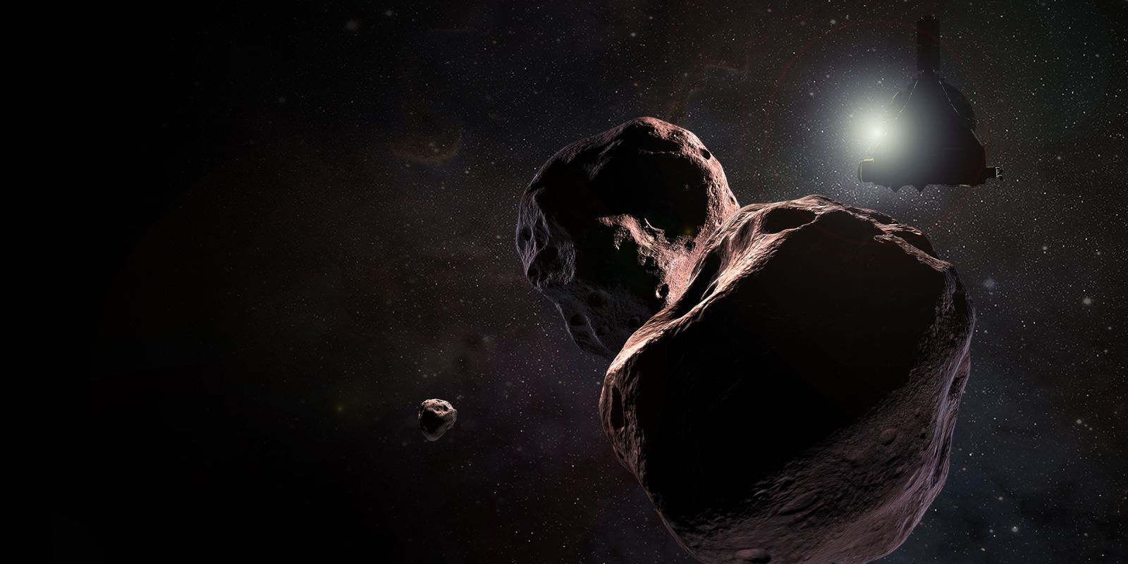 An illustration of NASA's New Horizons spacecraft encountering the Kuiper Belt object nicknamed Ultima Thule on Jan. 1, 2019. Image and Caption Credit: NASA/JHUAPL/SWRI