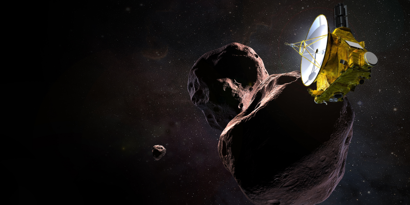 The New Horizons spacecraft is headed toward its second target - the Kuiper Belt object Ultima Thule. Image Credit NASA / JPL / JHUAPL