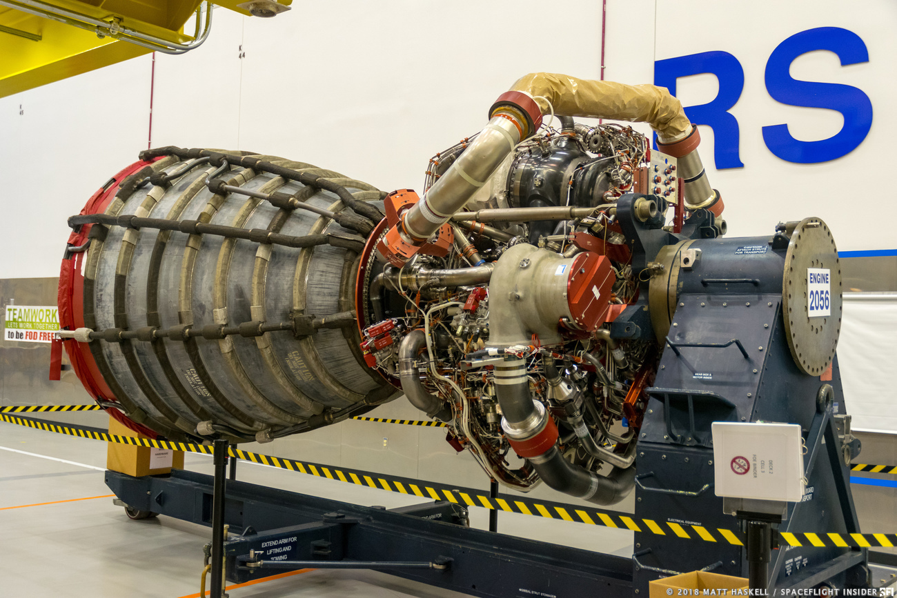 The RS-25 is a modified version of the Space Shuttle Main Engine. Photo Credit: Matt Haskell / The Aerospace Geek