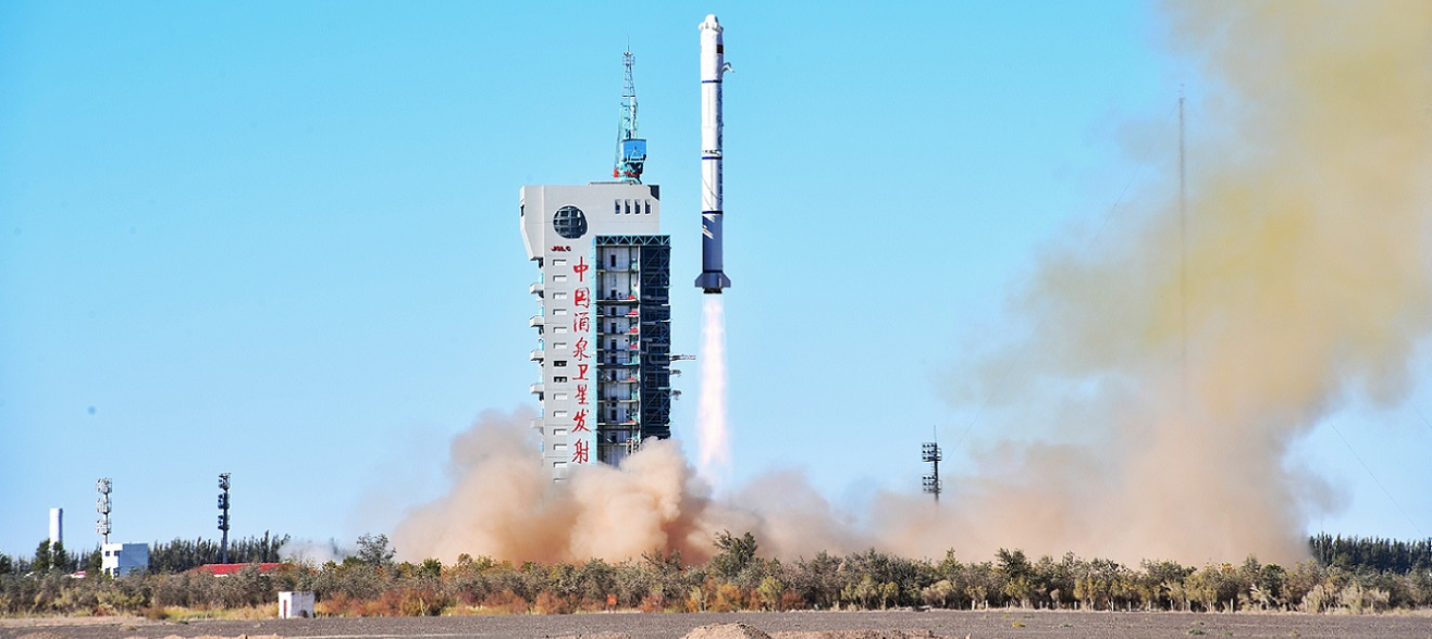 Long March 2C rocket carrying two Yaogan-32 satellites lifts off on October 9, 2018.