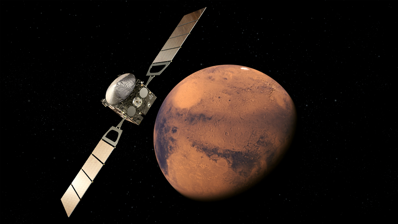 Artist's impression of the European Space Agency's (ESA) Mars Express spacecraft orbiting Mars. Image Credit: ESA