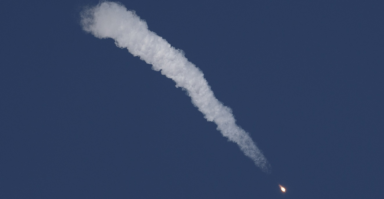 The Soyuz rocket is launched with Expedition 57 Flight Engineer Nick Hague of NASA and Flight Engineer Alexey Ovchinin of Roscosmos, Thursday, Oct. 11, 2018 at the Baikonur Cosmodrome in Kazakhstan. During the Soyuz spacecraft's climb to orbit, an anomaly occurred resulting in an abort downrange. The crew was quickly recovered and was reported in good condition.