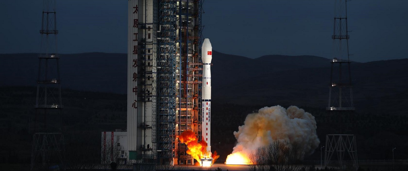 Long March 4B rocket lifts off with Haiyang-2B satellite on October 25, 2018.