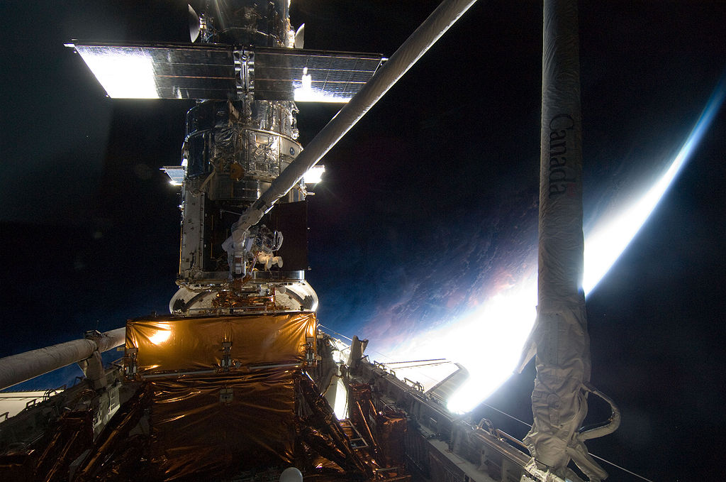 The Hubble Space Telescope as seen by the crew of Atlantis on STS-125 in May of 2009. Photo Credit: NASA