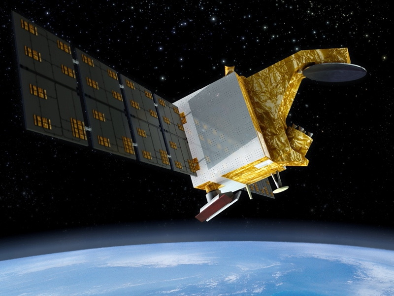 Artist's rendering of CFOSat in orbit.