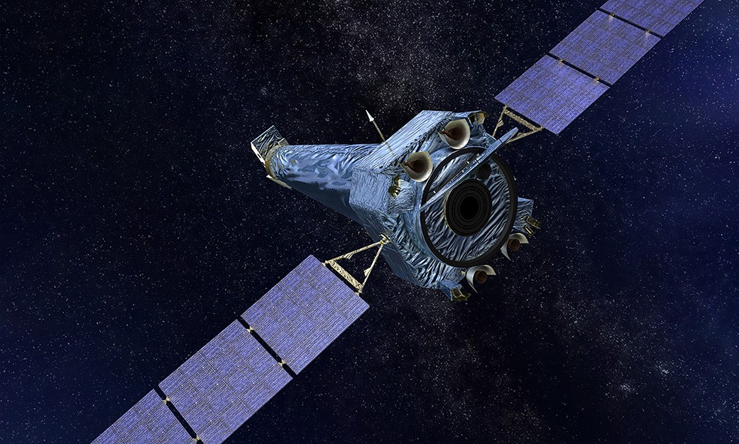 An artist's rendering of NASA's Chandra X-ray telescope. Image Credit: NASA