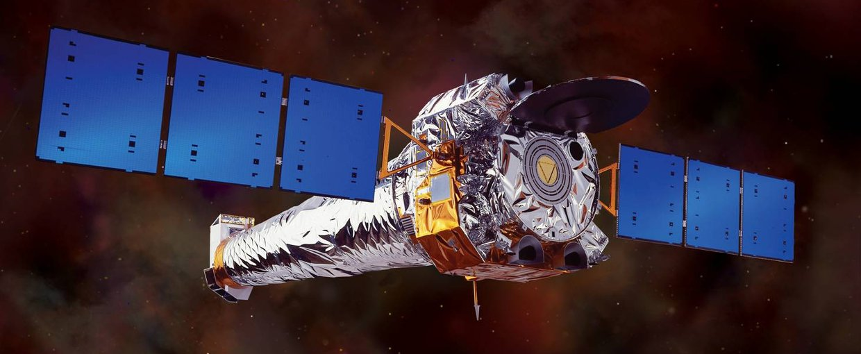 NASA image of the Chandra X-Ray Telescope in space