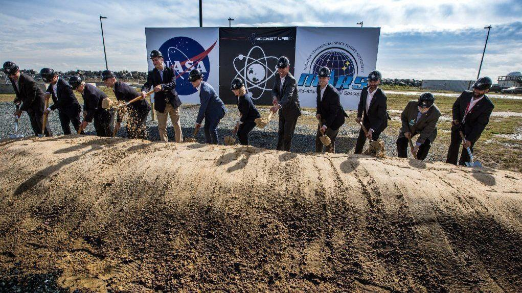 Groundbreaking ceremonies for Rocket Lab's Launch Complex 2 at NASA's Wallops Flight Facility located in Virginia. Photo Credit: Patrick Black / NASA