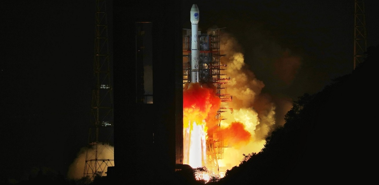 Long March 3B launches BeiDou-3 G1Q satellite on November 1, 2018.