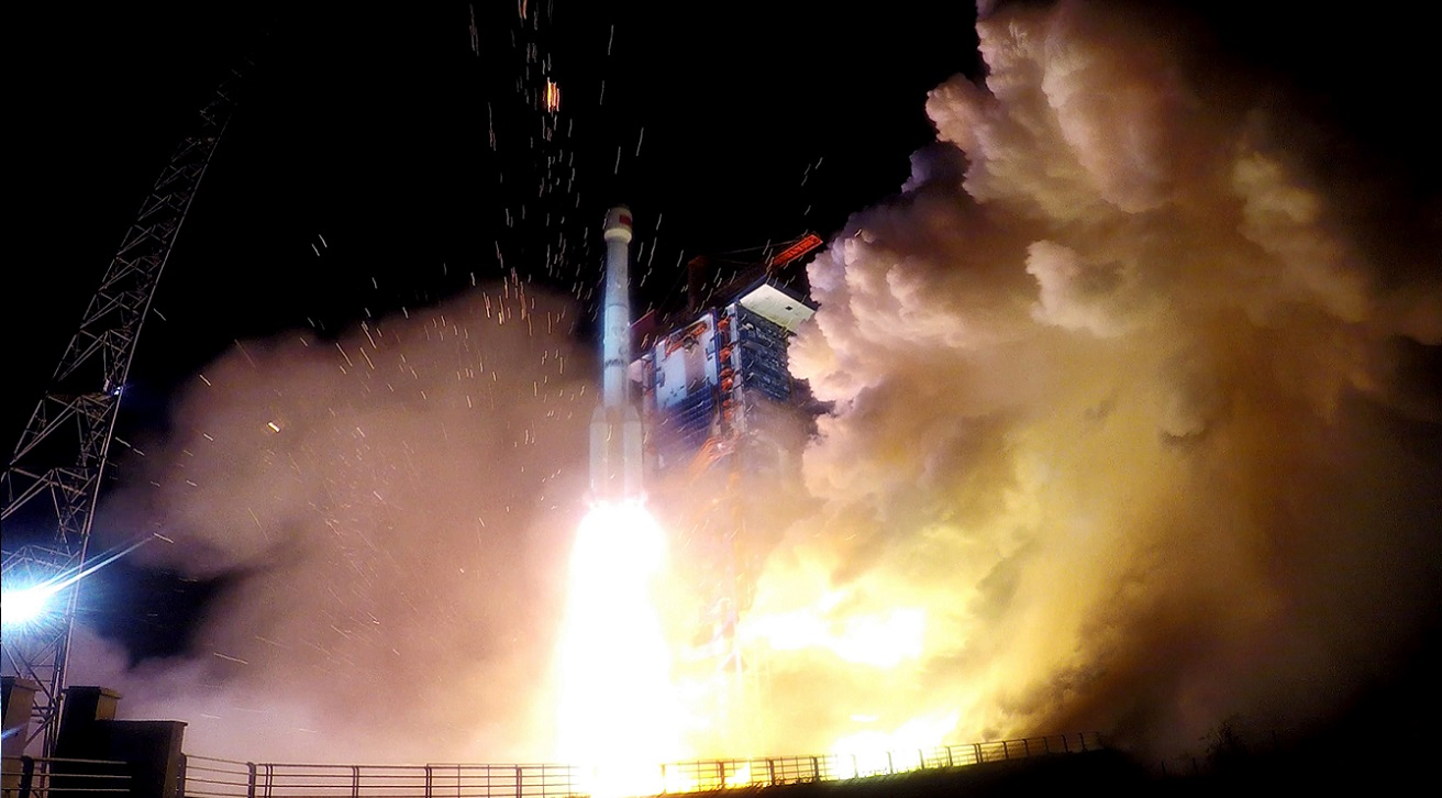 Long March 3B launch with BeiDou-3 M17 and M18 satellites on November 19, 2018.