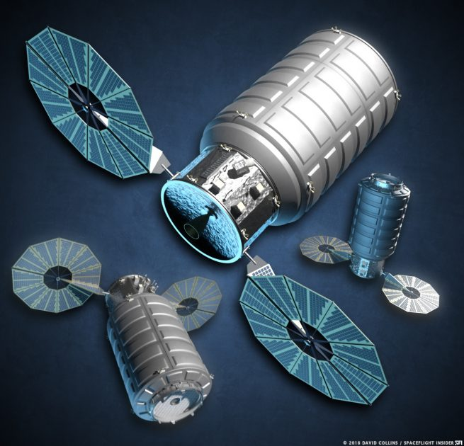 An illustration of an Enhanced Cygnus spacecraft. Image Credit: David Collins / SpaceFlight Insider