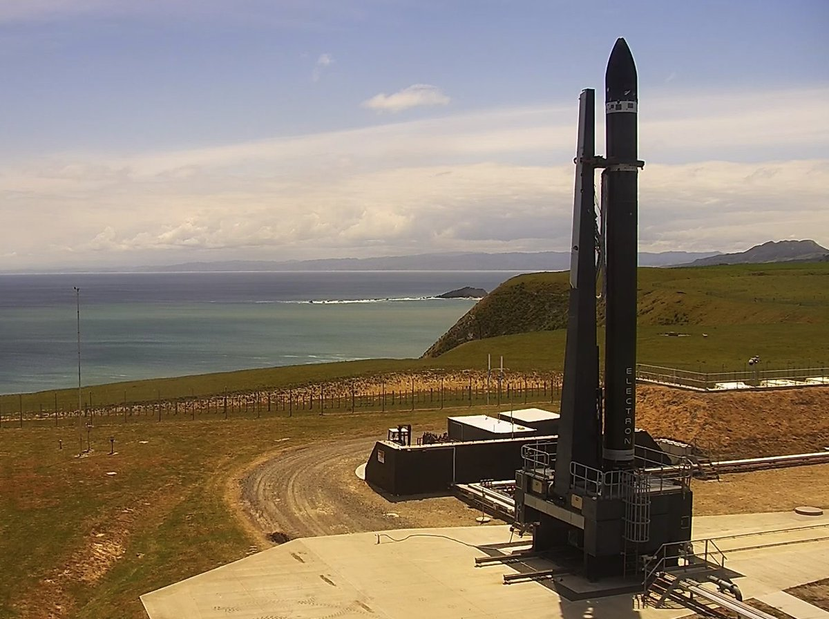 The Electron rocket at T-minus 3 hours before launch. Photo Credit: Rocket Lab