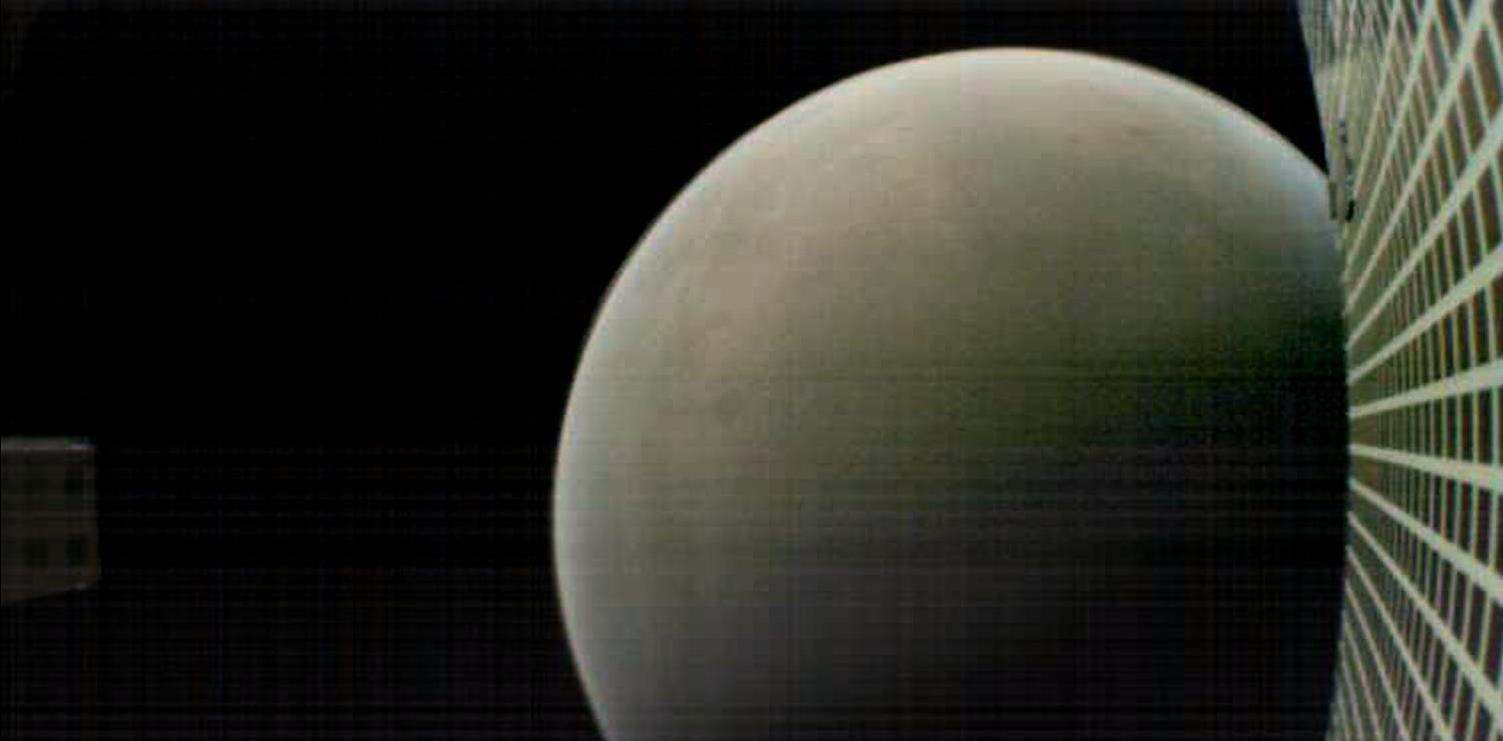 MarCO B snapped this picture of the Red Planet during its flyby of Mars. Image Credit: NASA/JPL-Caltech