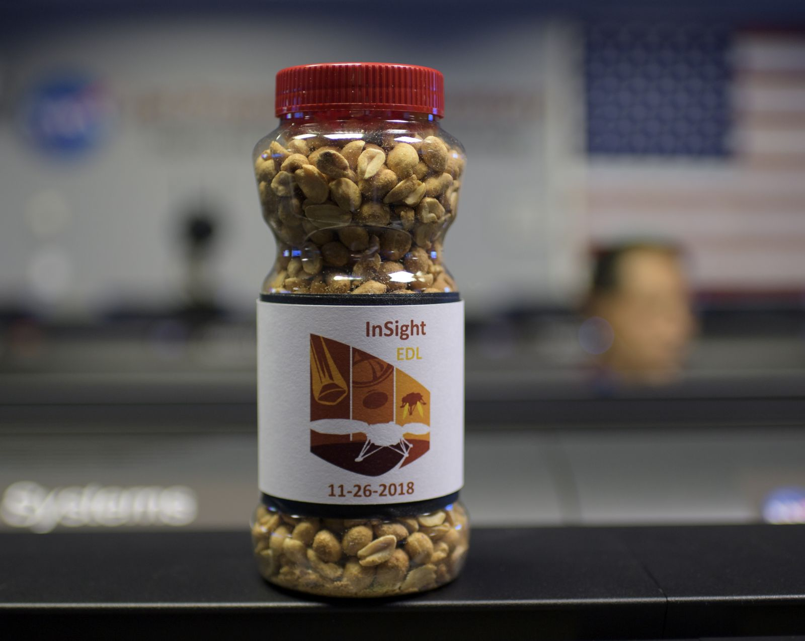 During 1964's Ranger 7 mission (which took place from July 28-31 of that year), NASA's Jet Propulsion Laboratory established a new tradition - lucky peanuts. With another successful landing under their belt, the nuts will likely be making appearances during future events. Photo Credit: Bill Ingalls / NASA