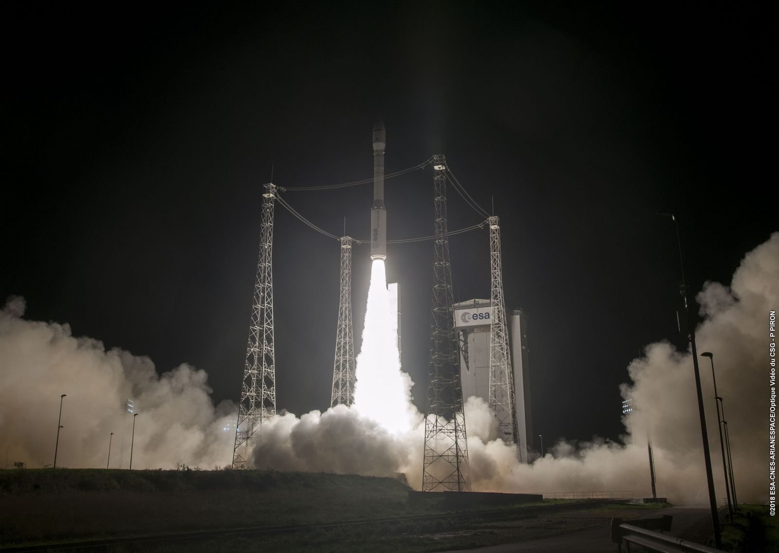 MOHAMMED IV-B is launched by Arianespace's Vega rocket. Photo Credit: Arianespace