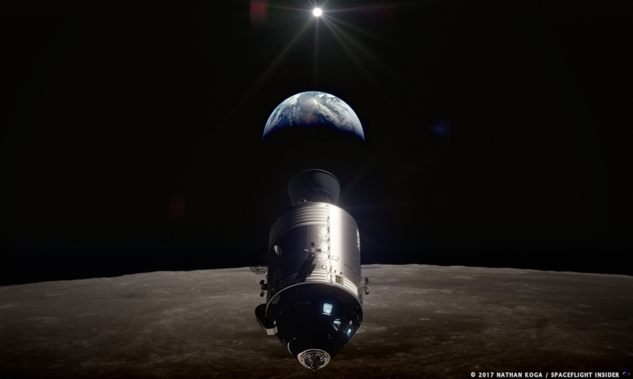 Apollo 8 illustration by Nathan Koga SpaceFlight Insider