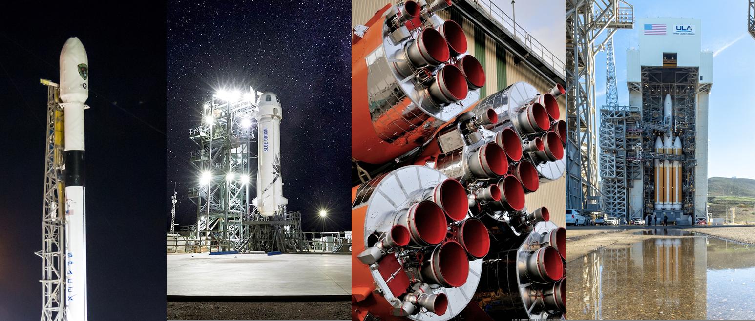 SpaceX Falcon 9 Blue Origin New Shepard Arianespace Soyuz ST-A United Launch Alliance Delta IV Heavy