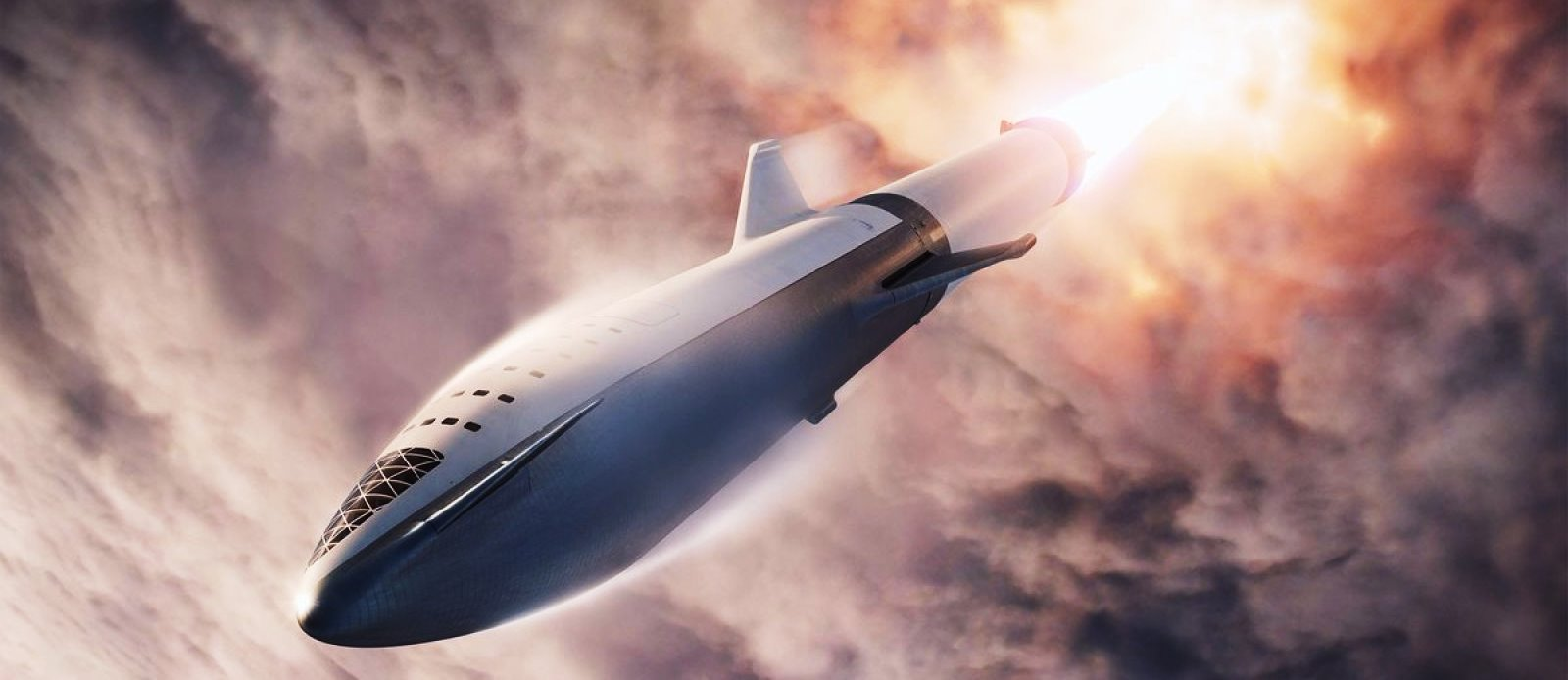 SpaceX Starship Big Falcon Rocket image credit SpaceX