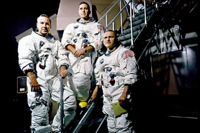 The crew of Apollo 8 (from left-to-right): Jim Lovell, Bill Anders and Frank Borman. Photo Credit: NASA