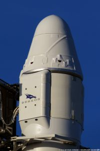 The CRS-16 Dragon spacecraft perched atop the Block 5 Falcon 9 rocket at Canaveral's SLC-40. Photo Credit: Mike Howard / SpaceFlight Insider