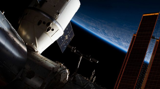 The CRS-16 Dragon as seen attached to the Earth-facing port of the Harmony module. Photo Credit: NASA