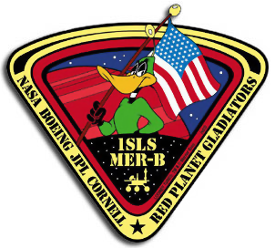 The mission patch for NASA's Mars Exploration Rover Opportunity. Image Credit: United States Air Force / Warner Brothers