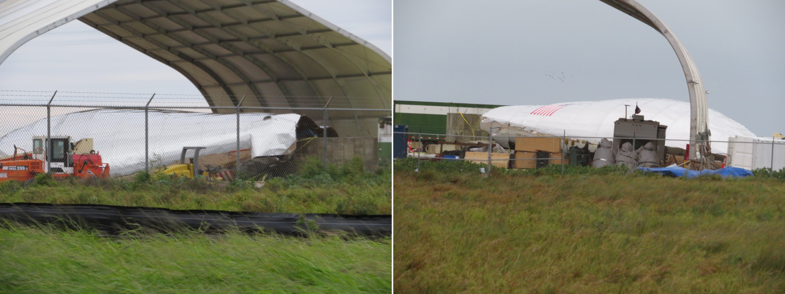 Damage to SpaceX's Starship hopper can be seen in these images. Photos courtesy of NASASpaceFlight / bocachicagal