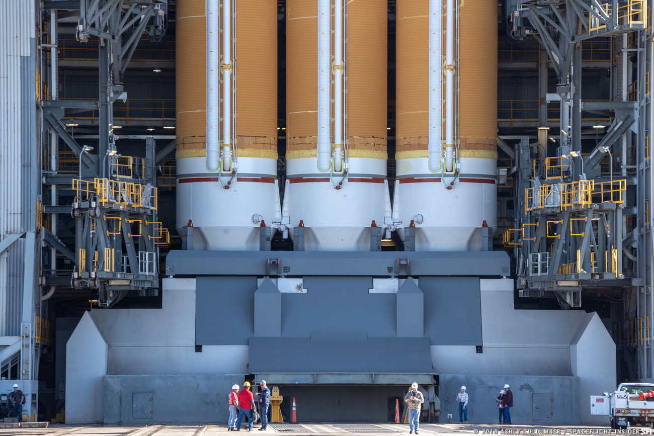 A United Launch Alliance Delta IV Heavy rocket with the NROL-71 payload rests at Vandenberg Air Force Base's Space Launch Complex 6 in California. Photo Credit: Ashly Cullumber / SpaceFlight Insider