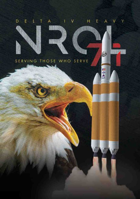 Mission logo for NROL-71. Image Credit: United Launch Alliance