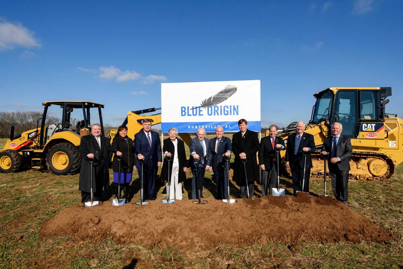 Blue Origin broke ground on new engine-production facilities in Alabama on Friday, Jan. 25, 2019. Photo Credit: ULA