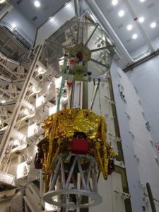 The Beresheet lander completes final testing for its mission to land on the Moon. Photo credit: SpaceIL