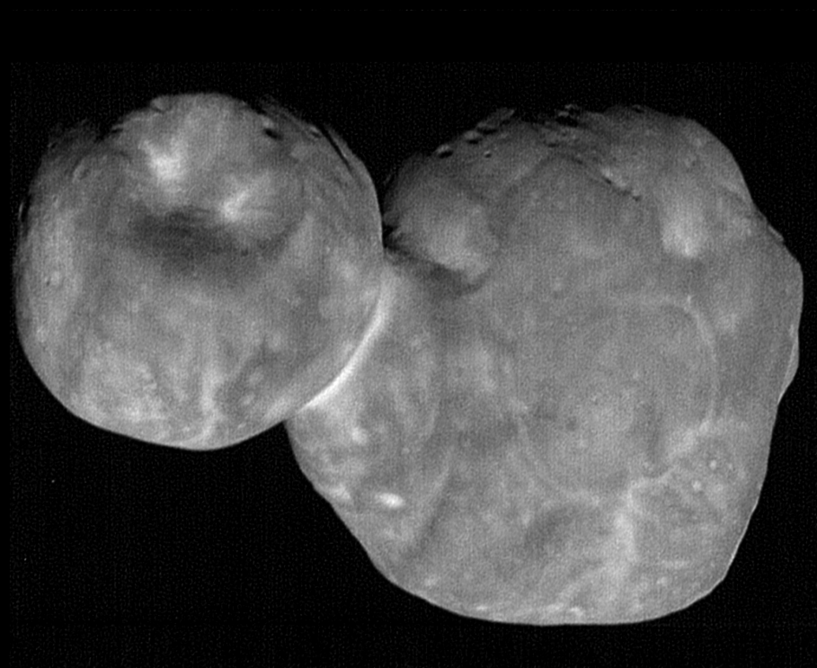 The most detailed images of Ultima Thule -- obtained just minutes before the spacecraft's closest approach at 12:33 a.m. EST on Jan. 1 -- have a resolution of about 110 feet or 33 meters per pixel. Photo Credit: NASA/Johns Hopkins Applied Physics Laboratory/Southwest Research Institute, National Optical Astronomy Observatory