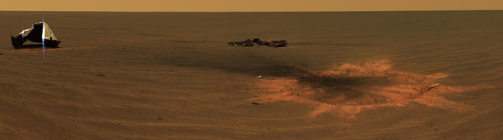 Opportunity touched down at Mars' Meridiani Planum in 2004 and began its scientific operations shortly thereafter. Image Credit: NASA / JPL-Caltech
