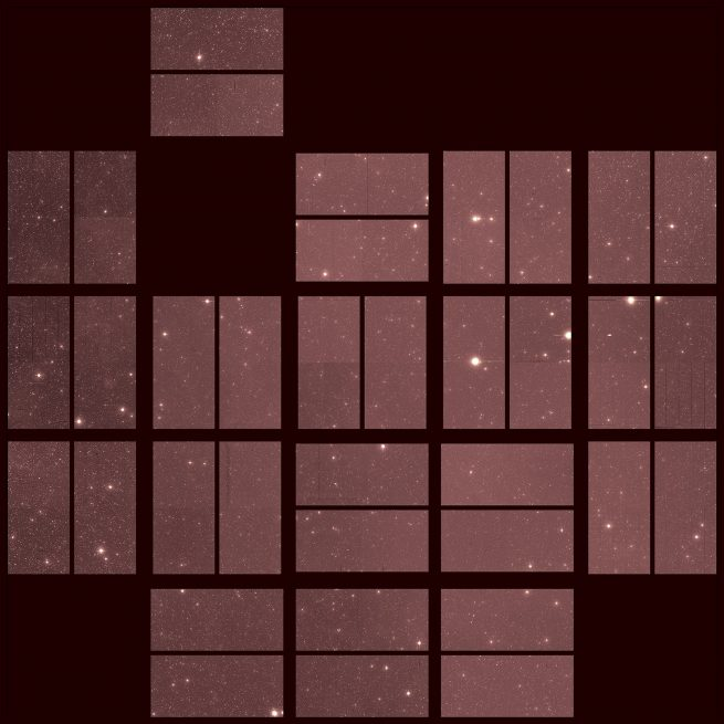 Kepler's final full field-of-view image, taken on Sept. 25, 2018. Photo Credit: NASA/Ames Research Center