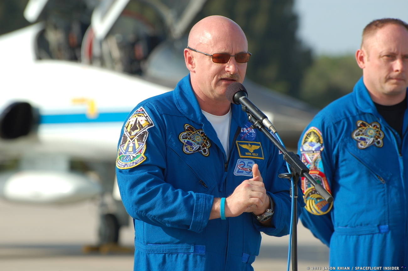 Kelly was a NASA astronaut who last flew to orbit in 2011 as a member of the crew of STS-134, flown on Space Shuttle Endeavour. Photo Credit: Mark Kelly / SpaceFlight Insider