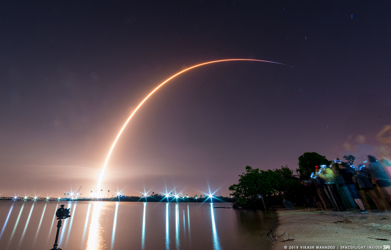 A file photo of a Falcon 9 launching from Cape Canaveral Air Force Station's Space Launch Complex 40 in Florida. SpaceX plans to launch the first batch of Starlink satellites from this launch pad. Photo Credit: Vikash Mahadeo / SpaceFlight Insider