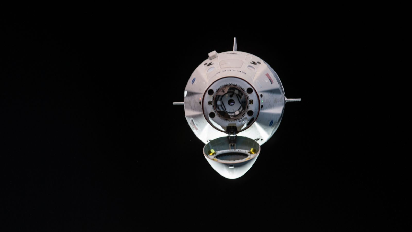 Crew Dragon as it approached the ISS on March 3, 2019. Five days later, it departed the space station to begin its journey home. Photo Credit: NASA