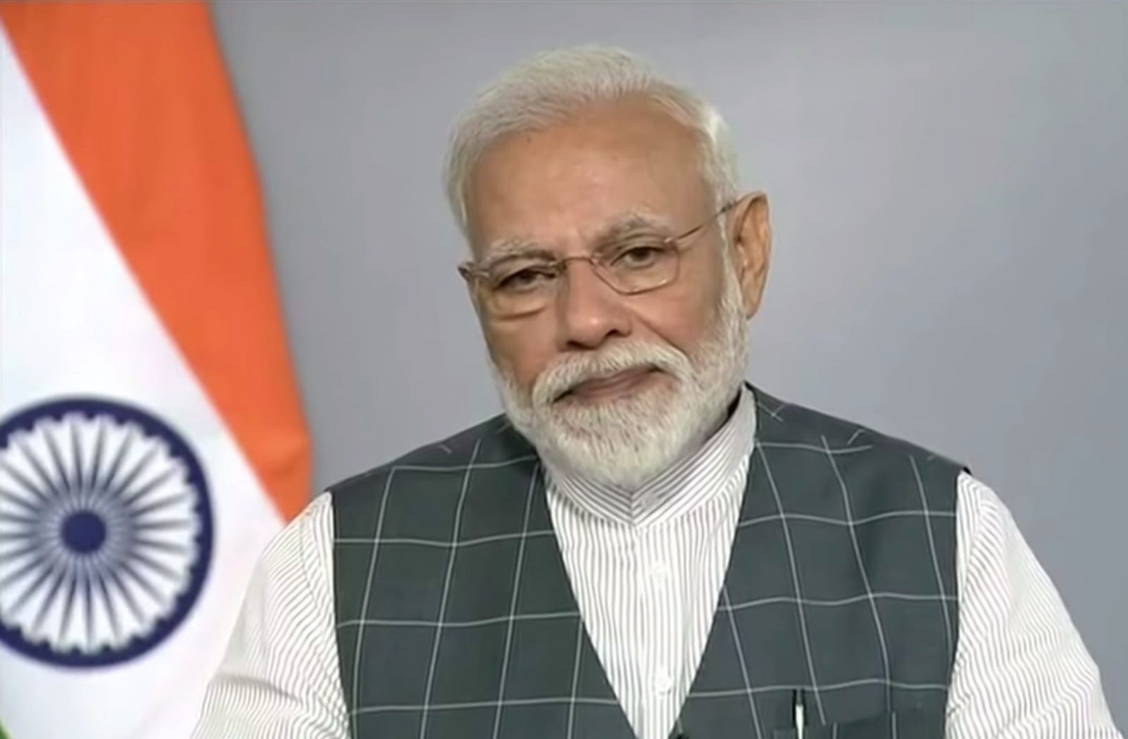 India's prime minister, Narendra Modi, addresses his country regarding the anti-satellite missile test. Photo Credit: Office of the Prime Minister of India