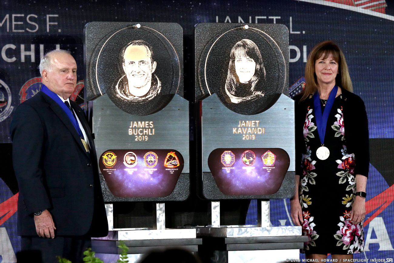 James Buchli and Janet Kavandi were inducted to the United States Astronaut Hall of Fame in April 2019. Photo Credit: Michael Howard / SpaceFlight Insider